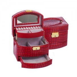 Jewelry box Red Crocodile