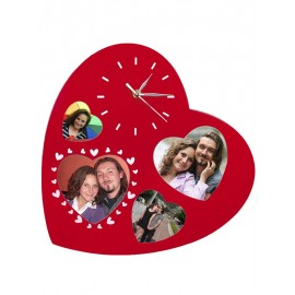 Wall clock heart