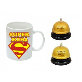 Super woman cup and bell
