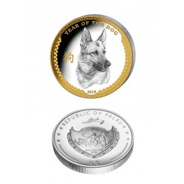 Silver coin Year of the dog 2018