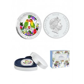 "Silver coin ""Love bird"""