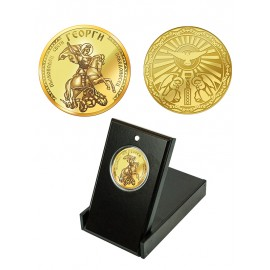 "Medal ""Saint George"", gold plated"
