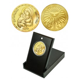 """Medal """"The Holy Virgin of Tenderness"""", gold plated"""