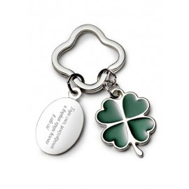 Keychain four leaf clover with your text