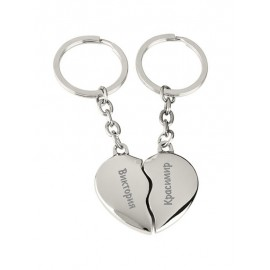 2 pcs keychains heart