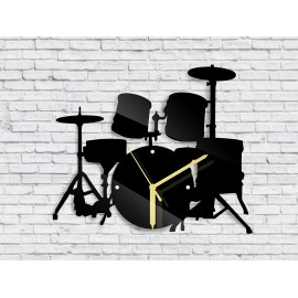 Wall clock drums