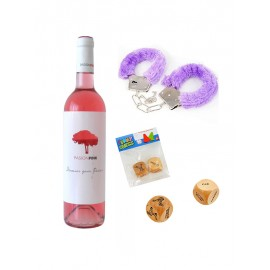 Wine, erotic dices and handcuffs