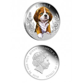 "Silver coin ""Puppies - Beagle"""