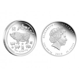 """Silver coin """"Lunar - Year of the Pig"""", 1/2 OZ"""