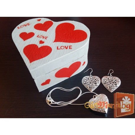 Set of jewelry hearts