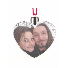 Christmas heart with your photo