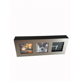 Frame clock with two photographs