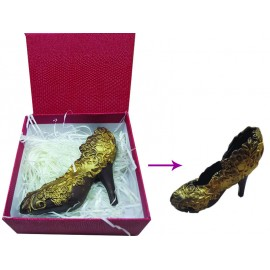 Chocolate lady shoe