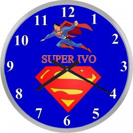 Superman clock with your name