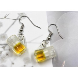 Beer cup earrings
