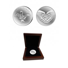 Silver coin for newborn