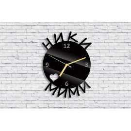 Wall clock with your names