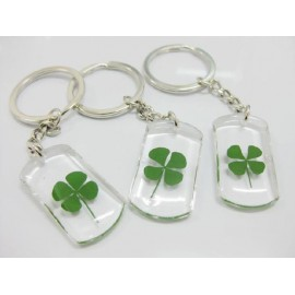 Keychain with four leaf clover