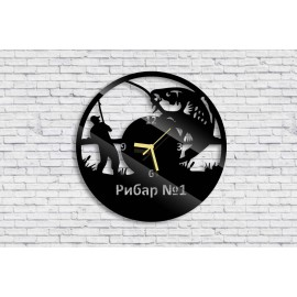 Wall clock fisherman