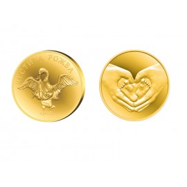 Coin for newborn, gold plated