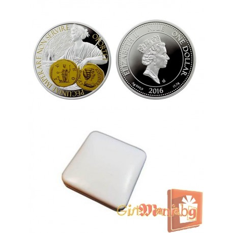 """Silver coin """"Goddess of Money and Protection"""""""