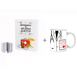 Notebook and mug for a doctor