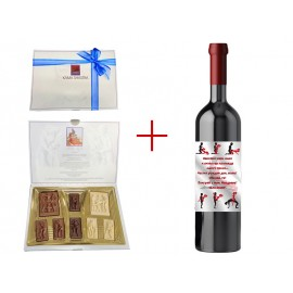 Bottle of red wine and chocolates Kama Sutra