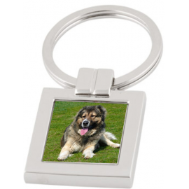 Keychain square engraved with your picture