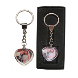Keychain heart engraved with your text