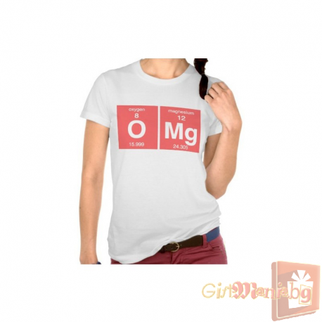 T shirt with chemical elements omg for Omg i print shirts