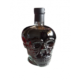 Wine bottle skull