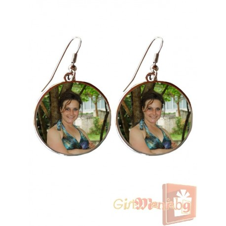 Earrings with your photo