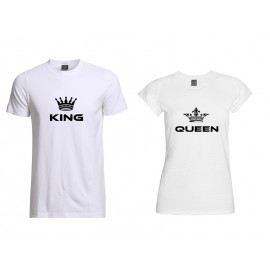 T-shirts for couples King and Queen