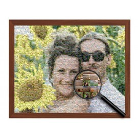Mosaic with your photos and magnifier