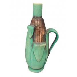 Ceramic bottle of wine corn