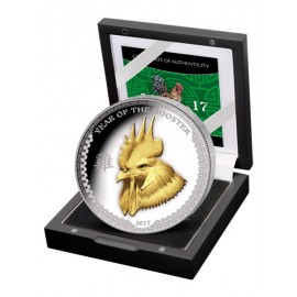 """Silver coin """"Year of the Rooster 2017"""""""