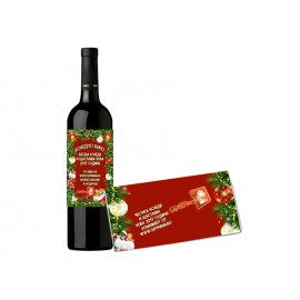 Bottle of wine and chocolate with your logo